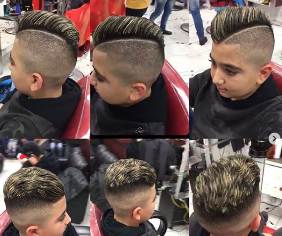 Hard Parted Undercut With Side Swept Hair On Top