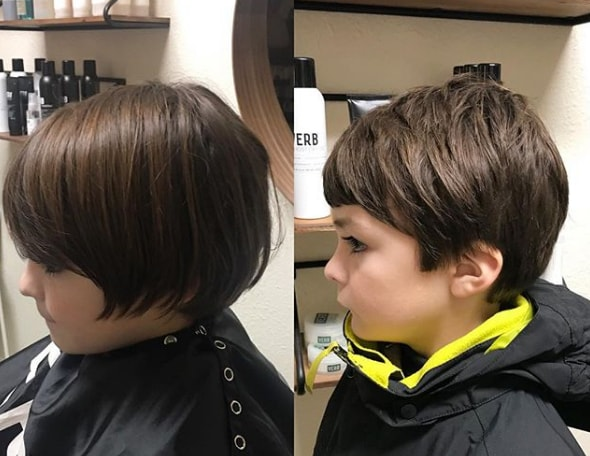 Short Bob Wavy Boy Haircut