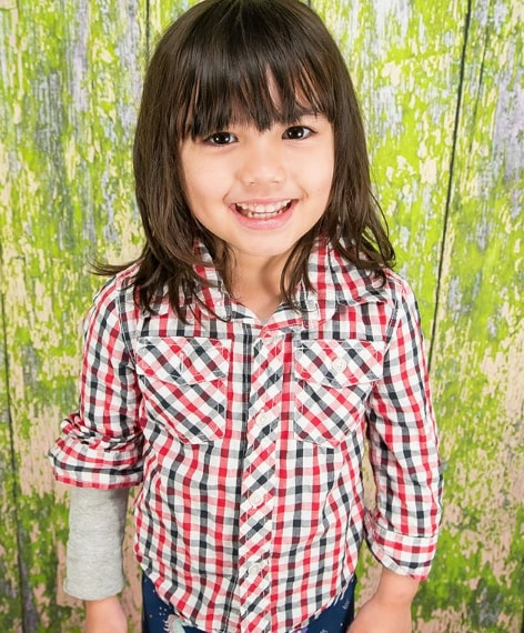 Long Bob Hairstyle for Little Girl