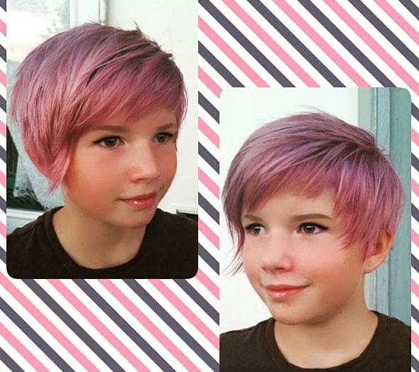Bob Haircut with Short Side Part