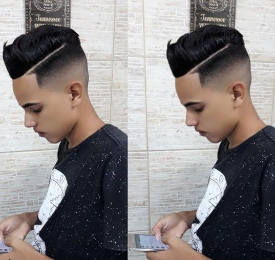 Front Up Spiky Hairs with Mid Fade
