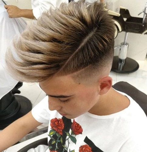Textured Layers with Side Part Boy Haircut for Thick Hairs