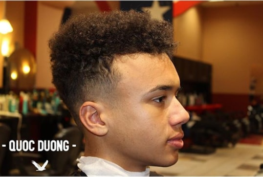 Mid Fade with Natural Curly Hairs