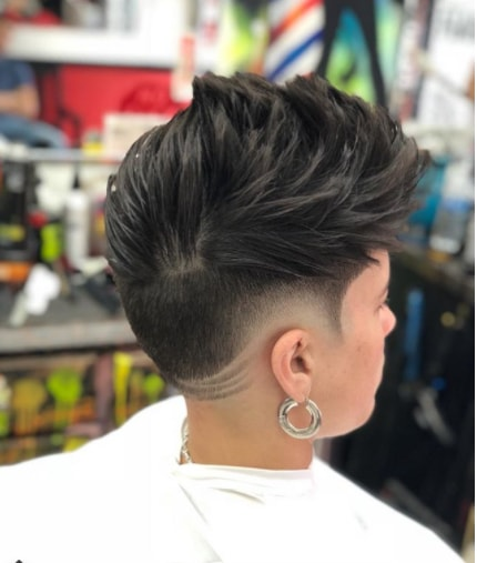 Messy Layered with Low fade Boy Haircut