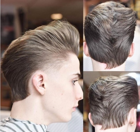 High Pompadour with Side Short Silk Layered