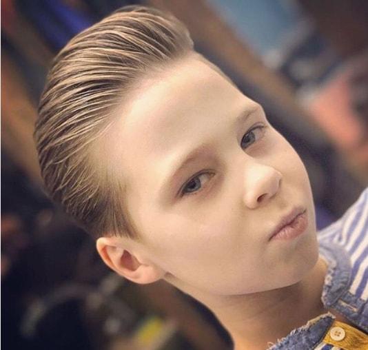 Brushed Back Boy Haircut 2018