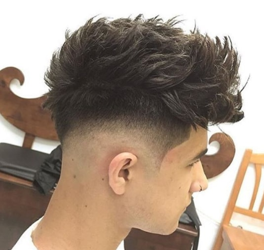 Medium Layeres Combover with Low Fade