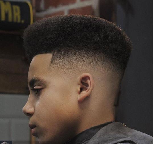 Undercut with Flat Top Boy Haircut