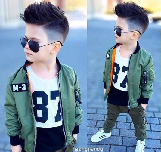 Long Faux Hawk with Mid fade - Cool Hairstyle for Boy