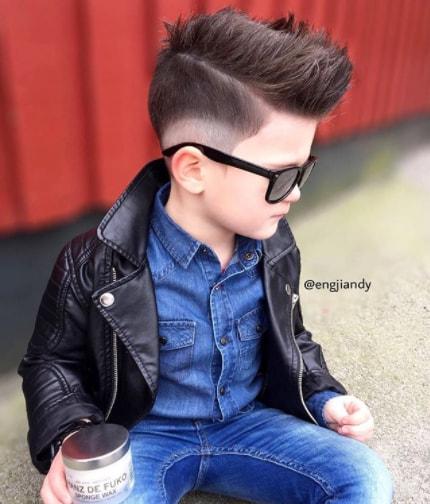 Faux Hawk with Fade Boy Haircut