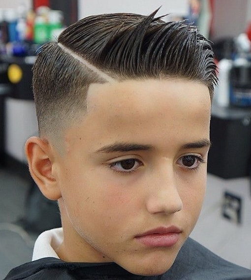 Combover mid fade Hairstyle
