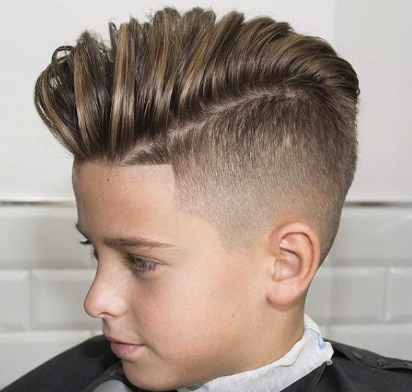 High Fade with Burshed Back Hairstyle