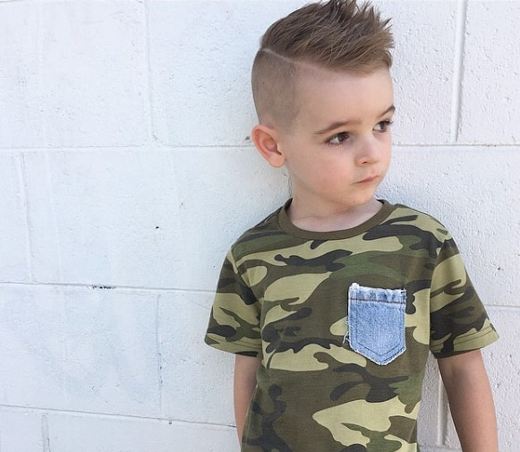 Skater High Hairstyle For Boys