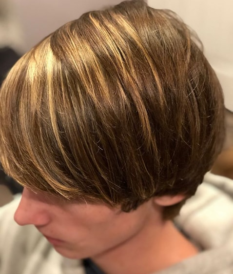 Side Part Long Haircut for Kids - Cool Haircut for Boys
