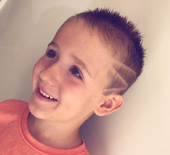Short and Side Design High Fade Haircut