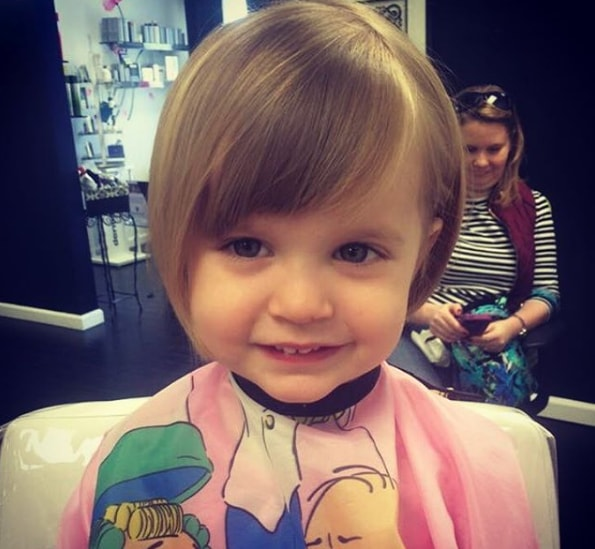 Cute Little Baby Girl With Bob Hairstyle