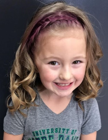 Curly LOB With Braided Fringe