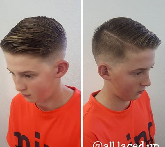 Faded Haircut With Side Part