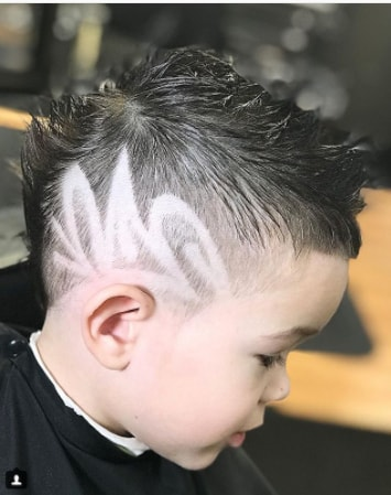 Short Mohawk with Side Design for boy