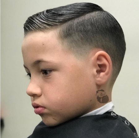 Classic Combover with Mide Fade
