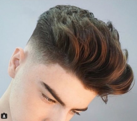 Low Fade Burshed Back Boy Haircut