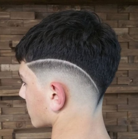 Simple Short combfront with Mid Fade Boy Cut
