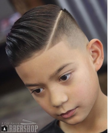 Ivy League High Fade Hairstyle for Boy