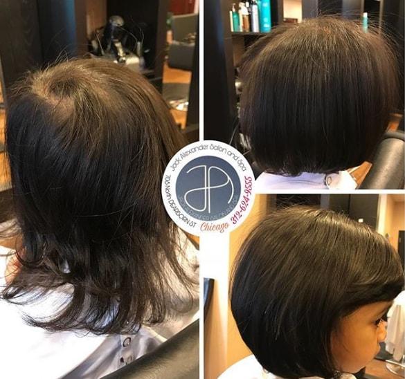 Bob Hairstyle With Side Swept Fringe