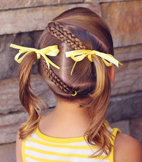 Braided Hairstyle With Long Pigtails