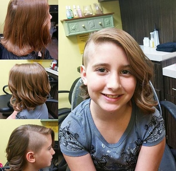 Mid High Fade with Medium Bob Haircut