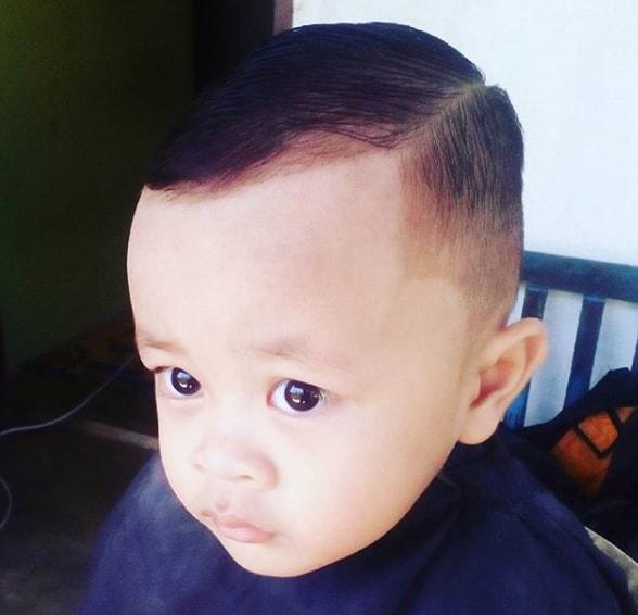 Sharp Side Part haircut