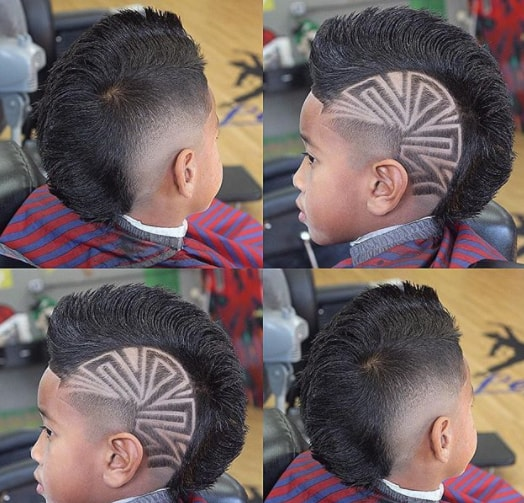Funky Mohawk with Side Design
