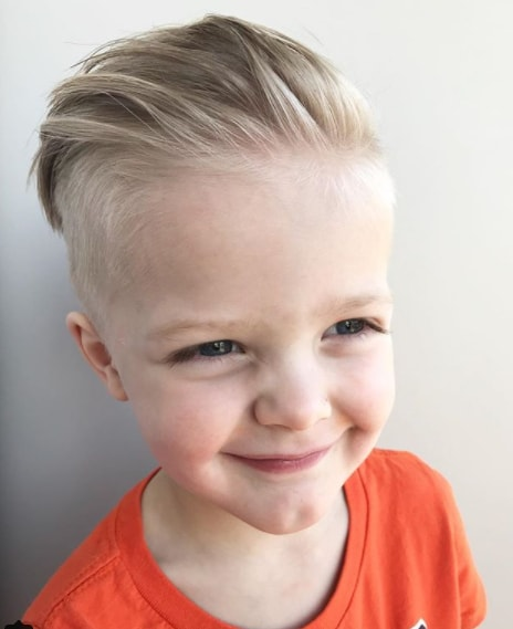 Combed Back Hair With Side Fade Baby Hairstyle