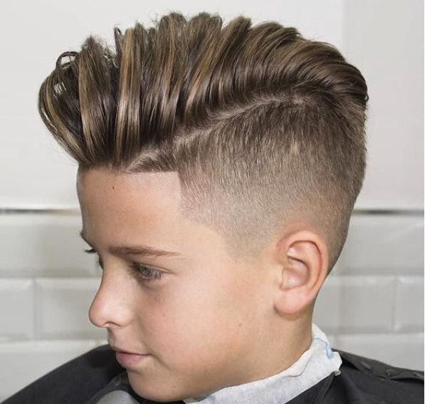 Long Top Fade for Boys
