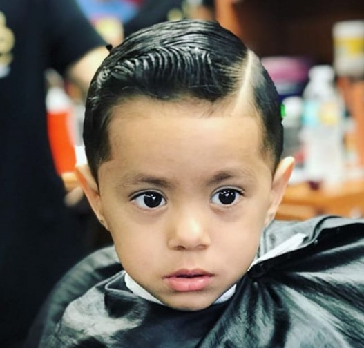 Slicked Back Hairstyle For Wavy Front