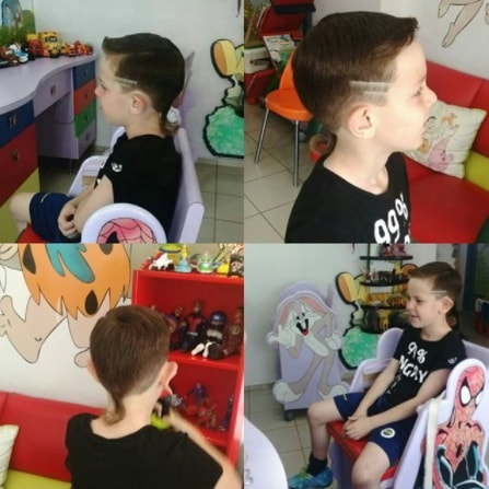 Side Swept Hair With Surgical Design & Ponytail