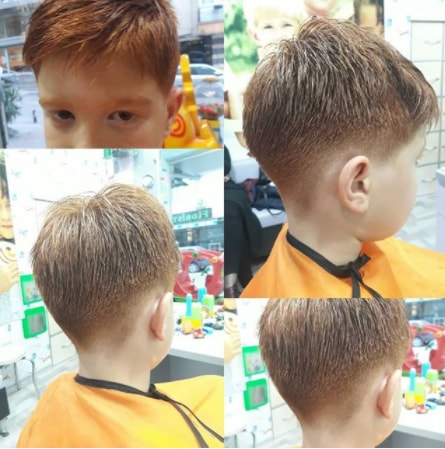 Textured Hairstyle With Mid Fade