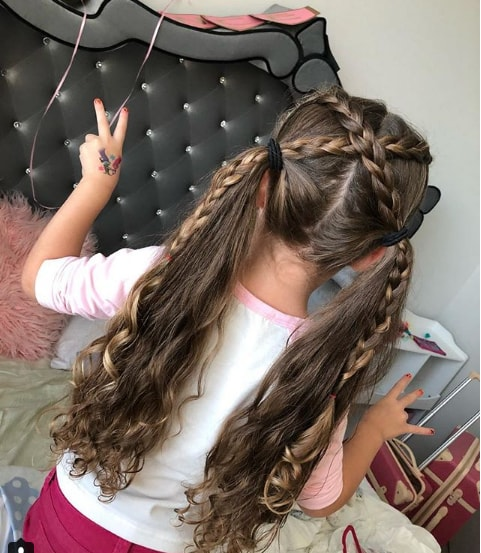 Crisscross Braid Ponytail
