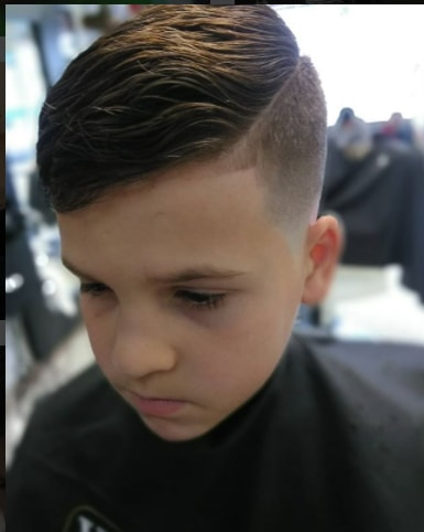 Faded Hard Parted Haircut