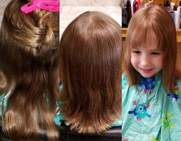 Layered Hair With Forward Swept Bangs