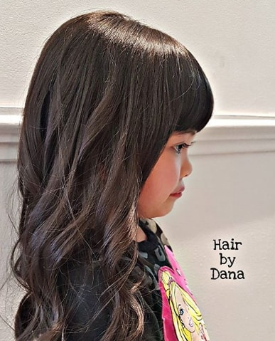 Wavy Textured Hair With Bangs