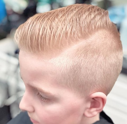 Shaved Sides With Layers On The Top