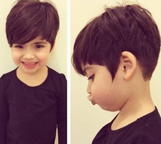 Short Pixie Haircut for Little Girls