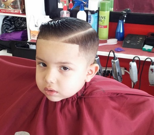 Slicked Hairstyle For Little Boy