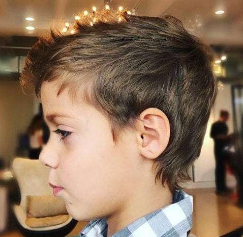 faux hawk wavy Kids Hairstyle