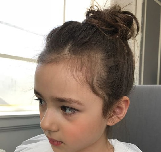 Top Knot for a little girl