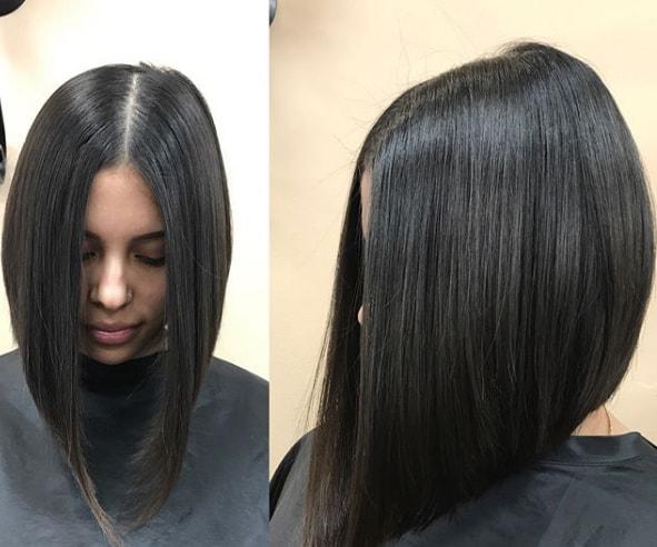 Triangular Lob with Straight Hairs