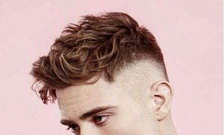 Casual Hairstyle With Mid Fade