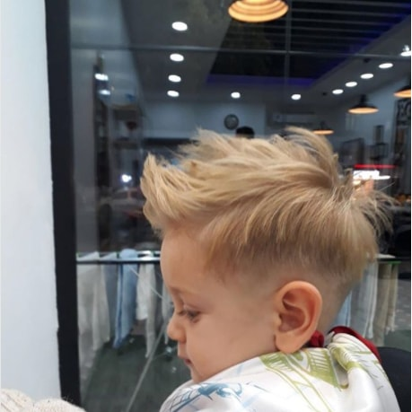 Rough And Spiky Baby Boy Haircut