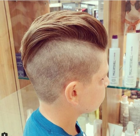 Combed Back Hair With Undercut